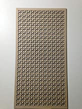 Mueble de pared para decoración de radiador de LaserKris, rejilla, tablero DM perforado, (4 x 2) W1