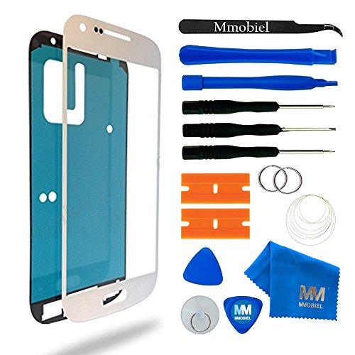 MMOBIEL Front Glass Replacement Compatible with Samsung Galaxy S4 Mini (White) Display Touchscreen incl Tool Kit
