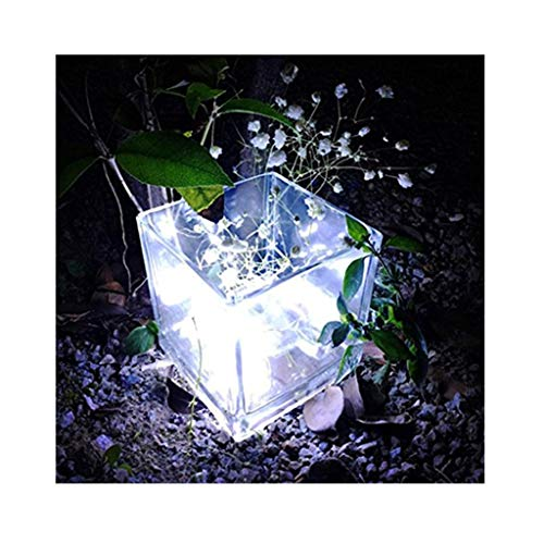 sunnymi 1m String Fairy luz 10led Batería Alimentado por pera Distressed Agua Densidad Exterior Jardín Camping Bombilla LED Navidad Luces Fiesta Boda Lámpara, Cobre, Kaltes Weiß, Kabellänge: 1M