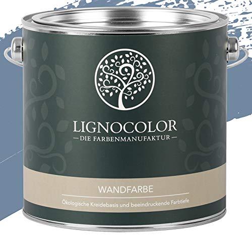 Lignocolor Wandfarbe Innenfarbe Deckenfarbe Kreidefarbe edelmatt 2,5 L (Aqua Blue)