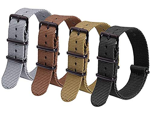Ritche 4PC 20mm Nato Strap Nylon Watch Band Compatible with Timex Weekender Watch for Men Women (4 Packs)