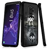 Case for Samsung Galaxy S9 Plus case Wolf Cub Slim Soft and Hard Tire Shockproof Protective Phone Cover Case Slim Hybrid Shockproof Protective Case Anti-Scratch Cushion Bumper with Reinforced Corners,