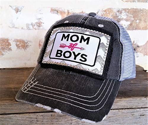 Loaded Lids Women's Mom of Boys Rhinestone Embellished Baseball Cap