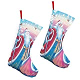 Pummbaby Funny Christmas Xmas Yule Santa Girlmerry Christmas Stockings Xmas Socks Ornament Themed 10 Inch Double 2pcs Large Pair Formal Unique Female Male Hanger Pole