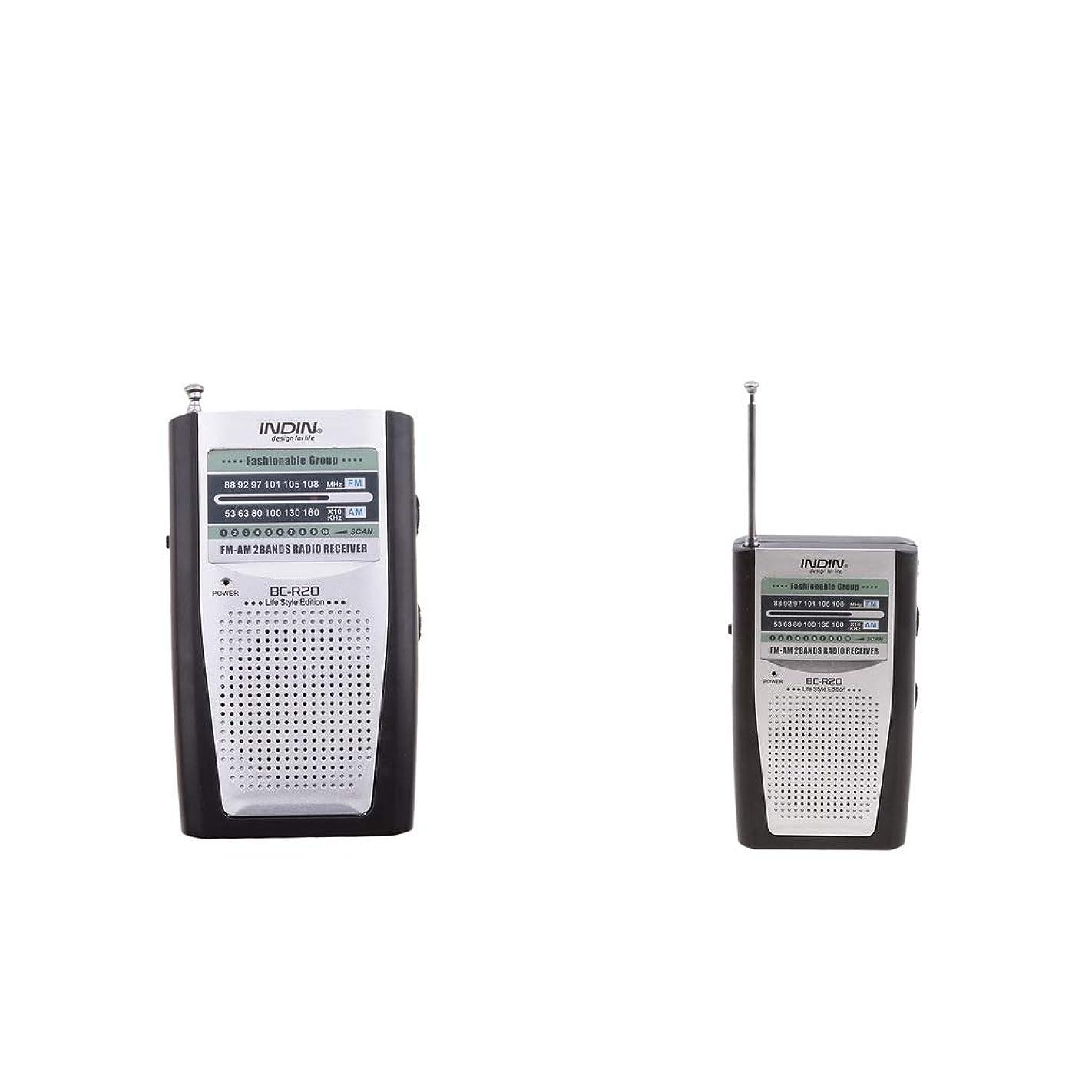 宴会桃アセンブリポータブルラジオ 釣り 登山 フィッシング用 3.5mmジャック 2個