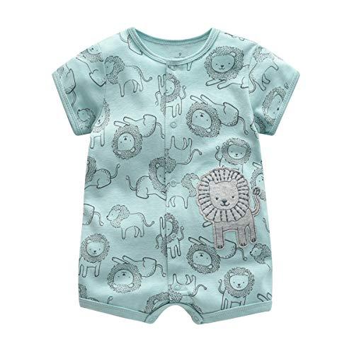 Bebé Pijama Niños Pelele de Algodón Body Manga Corta Verano Jumpsuit 6-9 Meses
