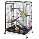 ZENY 37' Ferret Cage Rabbit Guinea Pig Chinchilla Small Animal House 4 Levels (Black)