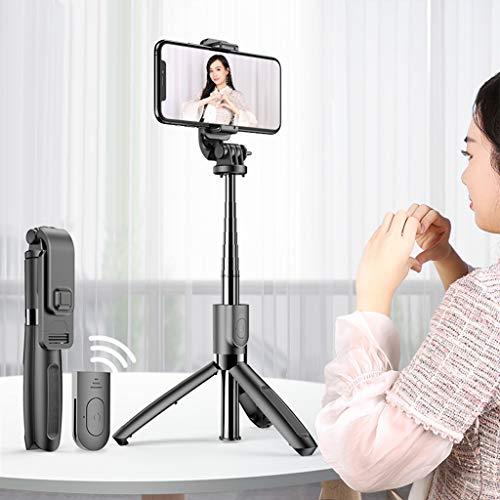 Chenso Palo selfie portátil inalámbrico Bluetooth con trípode extensible plegable para iPhone, teléfonos móviles y cámaras deportivas