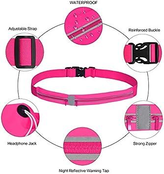 EXTREMEWORLD Waterproof Reflective Running Belt Running Waist Pack Runner Pouch Belt Fitness Workout Bag