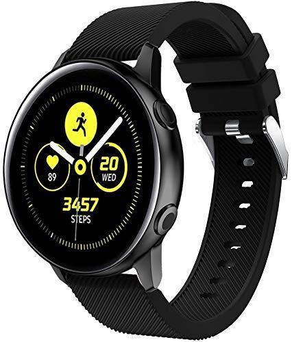 Gransho Repuesto de Correa de Reloj de Silicona Compatible con Amazfit Bip/Bip Lite/Bip S/Bip U, Caucho Fácil de Abrochar para Relojes y Smartwatch (20mm, Pattern 11)