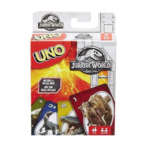 Uno Jurassic World Jeu de Société et de Cartes, Flk66