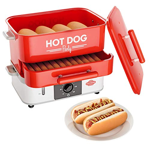 HOT DOG WORLD - Großer Hot Dog Party Steamer, Hot Dog Maker