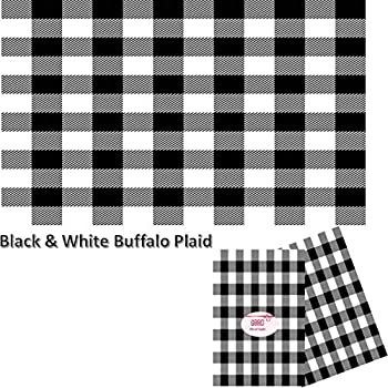 Tissue Paper with Designs - Printed Tissue Paper for Gift Wrapping 24 Decorative Sheets 20  X 30   Black and White Buffalo Plaid