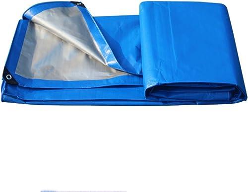 AAA Tissu de pluie tissu imperméable à l'eau Tissu de soleil imperméable à l'eau pluie tente anti-age anti-corrosion Camping en plein air camping suspendus bache à matelas Couleur  argent + bleu 3x5m