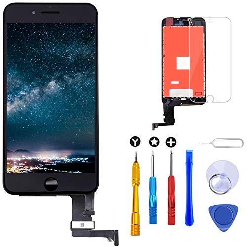 Brinonac Pantalla para iPhone 7 Plus, 5.5' Táctil LCD de Repuesto Ensamblaje de Marco Digitalizador con Herramienta de reparación y Protector de Pantalla (Negro)