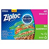 Ziploc Sandwich and Snack Lunch Bags with New Grip 'n Seal Technology, 130 Count, Pack of 9 (1,170 Total Bags)