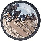 BMX Racing Cycling Race Bike Pomelli di Manopole a Forma con Viti Set Maniglia per Porte A...