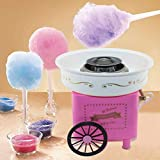 Vintage Hard Free Countertop Cotton Candy Maker, Includes Reusable Cones And Sugar Scoop