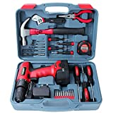 Complete Power and Hand Tool Kit with Drill Driver, Hi-Spec DT30320,...