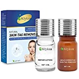 Skin Tag Remover, Mole Remover and Repair Lotion Set, Safe and Gentle Skin Tag Treatment and Mole Corrector, Premium Natural Ingredients by KLYKUA