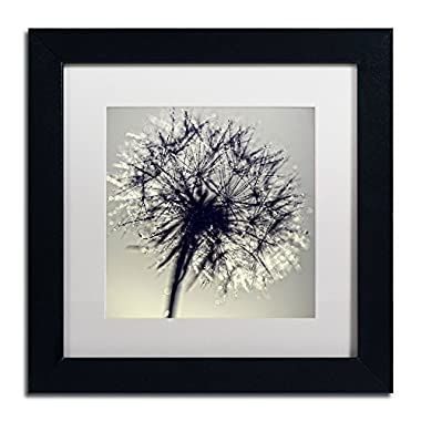 Morning Sparkles Artwork Beata Czyzowska Young in White Matte and Black Frame, 11 by 11-Inch