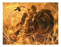 Diy 数字油絵 数字塗り絵 _ 機関車のオートバイ _ 大人の子供のためのギフト _ デジタル油絵 数字キットでペイント ホーム オフィス装飾 _ 40X50Cm _ 【ギフト】木製フレーム