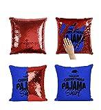 Chrismas MRZ3665 - Funda de almohada con diseño de pijama, diseño de lentejuelas, con...