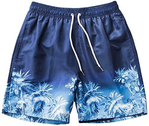 Costume da Bagno Moda Trunks da Bagno da Uomo Pantaloncini da Bagno Estate Vacanze Pantaloncini da Spiaggia in Primavera Hot Spring Fashion Big Pantaloni Blue Coconut Pantaloncini da Cocco Adatto per