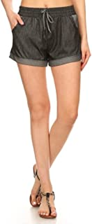 ShoSho Womens Buttery Soft Sports Shorts Spring Summer Pompom Trim Casual Hot Pants