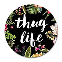 Thug Life Round Mouse Pad by Smooffly,Thug Life Fashion Design Circular Mousepad With Rubber 20cm [並行輸入品]