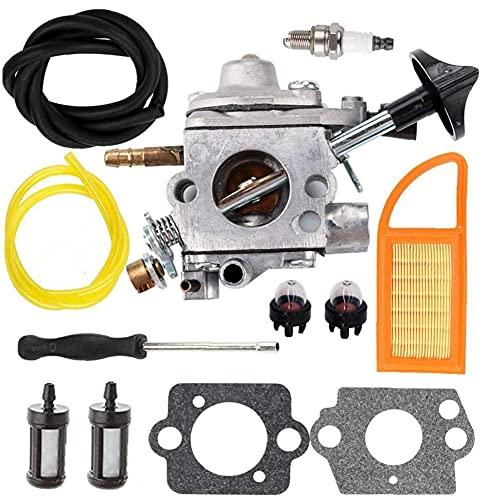 Jualyue Carburador Carburador + Ajuste Fit Herramienta para Stihl Br550 Br500 Br600 Mochila Soplador C1q-s183 Carb 4282 120-0606-4282 120-0607-4282 120-0608 Soplador De Hojas Accesorios De Vacío