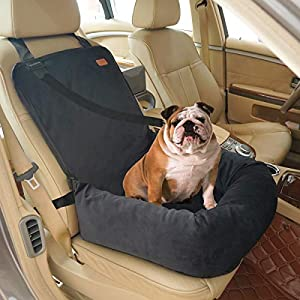 BOCHAO Dog Car Seat Pet Booster Seat Pet Travel Safety Car Seat,The Dog seat Made of Materials is Safe and Comfortable, and can be Disassembled for Easy Cleaning