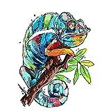 Guume Pintura por números Camaleón Abstracto Animal DIY Pintura al óleo Set 40x50cm Lienzo Sin Marco Decoración del hogar Cumpleaños Navidad Sala de Estar Dormitorio Principiante