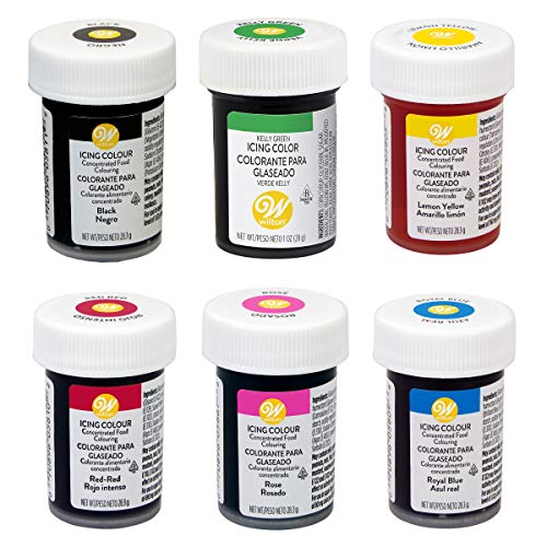 Wilton Icing Paste Gel for Cake Cupcake Baking Decoration 6 Primary colours
