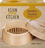 JADE TEMPLE 17608 Asian Happy Kitchen-Vaporera de bamb con tapa