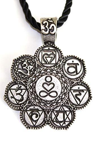Collar con símbolo de amor y paz infinito, con colgante en espiritual, yoga, meditación, budismo tibetano, joya medallón, regalo original para hombre y mujer