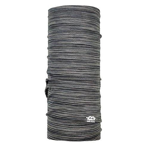 P.A.C. Merino Wool Multi - Stone Rock Multifunktionstuch - Merinowoll Schlauchtuch, Halstuch, Schal, Kopftuch, Unisex, 10 Anwendungsmöglichkeiten