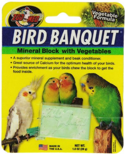 Zoo Med Bird Banquet, Futterblock für Vögel, Gemüse-Mix, klein, 1x 28 g