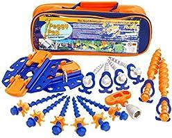 Peggy Peg PP99, Accessori con Stop Fix e Go, Marquise, Arancione, Set di 16 Pezzi