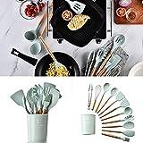 JIEHED K - Juego de utensilios de cocina (silicona, antiadherente, 1 unidad)