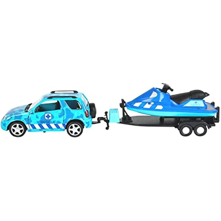 3 Pic Set Green Truck and Trailer Toys for Boys Trek Adventures Tribello Trek Adventures SUV Car and Helicopter with Trailer