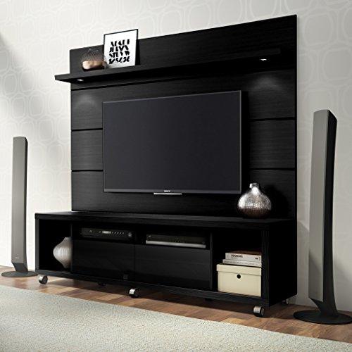 Manhattan Comfort Cabrini Floating Wall TV Panel 1.8 in Black Matte