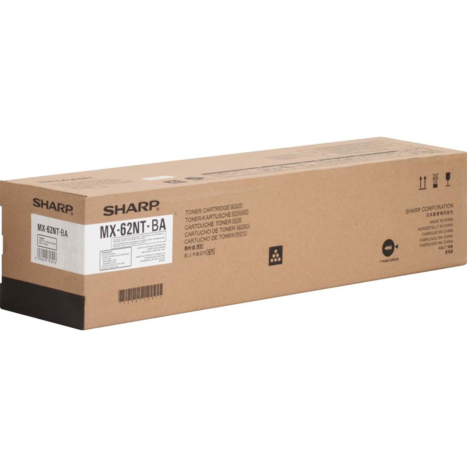 Sharp MX62NTBA Original Toner Cartridge Black