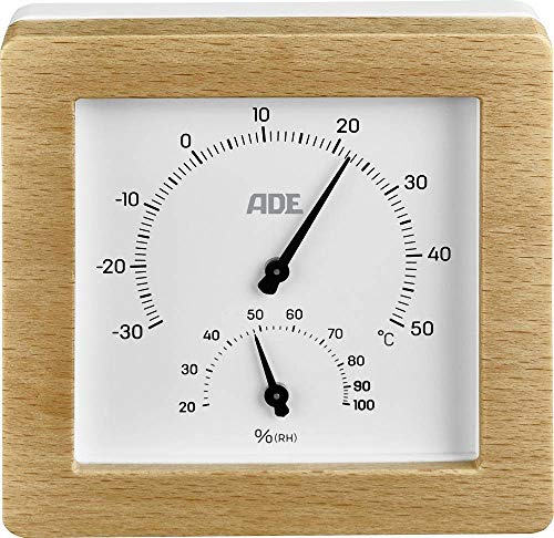 ADE Thermo-/Hygrometer Holz, Weiß