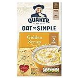 Quaker Oat So Simple Golden Syrup 10 x 36g - Vollkorn Haferflocken mit Golden Syrup -