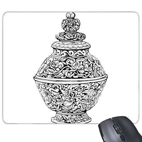 China Chinese oude cultuur de Qing dynastie vaas lijn tekenen rechthoek antislip rubber muismat spel muismat cadeau