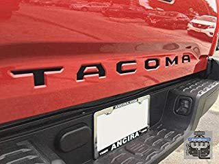 LimitlessParts Matte Black Tailgate Letters fits Tacoma 2016 & UP ABS Plastic Inserts 2017 2018 2019 TRD Pro Custom Tacoma Accessory, Emblem, Logo, 3rd Gen, Overlay, Badges, Truck Mods
