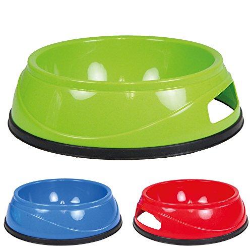 Schecker Preiswerte Kunststoffnäpfe mit Gummiring 4er- Set je 0,5 L rutschfest