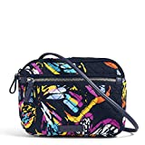 Vera Bradley Iconic RFID Little Crossbody, Signature Cotton, Butterfly Flutter