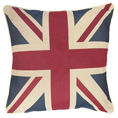 Signare Gobelin Arazzo copricuscini Divano, federe Cuscini Divano, Fodere Cuscini 45x45 cm con Disegni di Londra (Union Jack)
